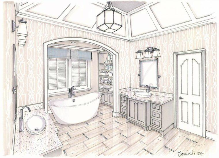 boceto baño