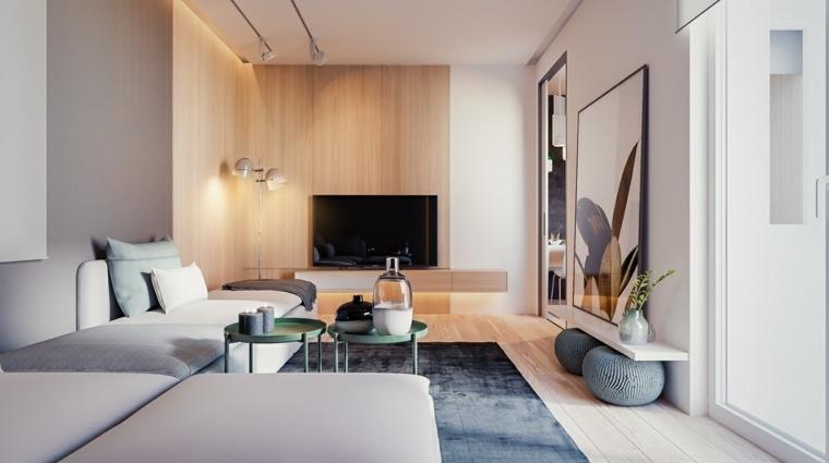 Dise o de interior que combina la madera y los colores for Diseno de la casa interior