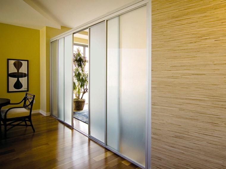 Puertas correderas de cristal para interiores con clase - Puertas correderas interior ...
