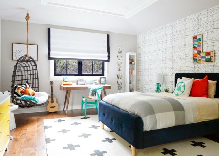 distribucion dormitorios adolescentes areas juego paredes