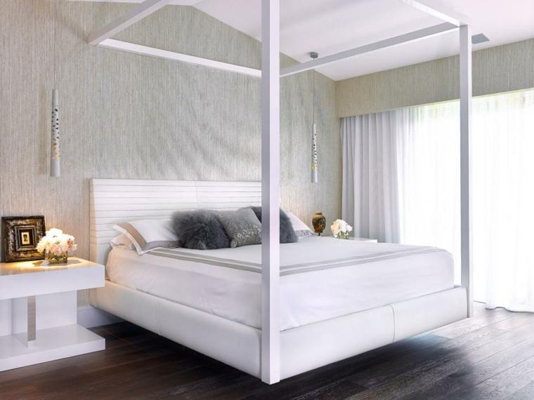 distribucion dormitorios blanco sencillas ambientaciones paredes