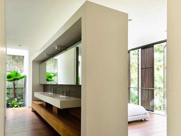 dormitorio bano diseno casa estilo moderno ideas