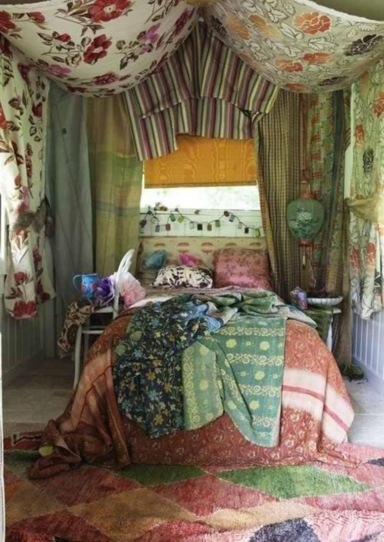 dormitorio hippie retro