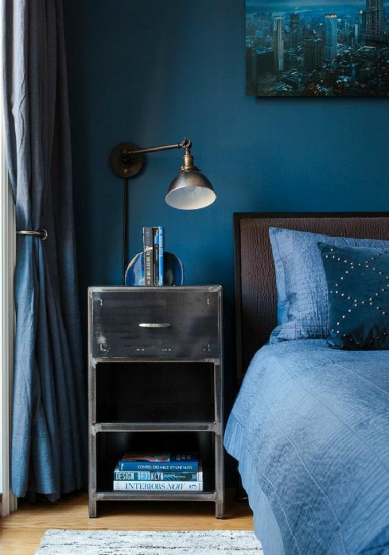 habitación color azuk