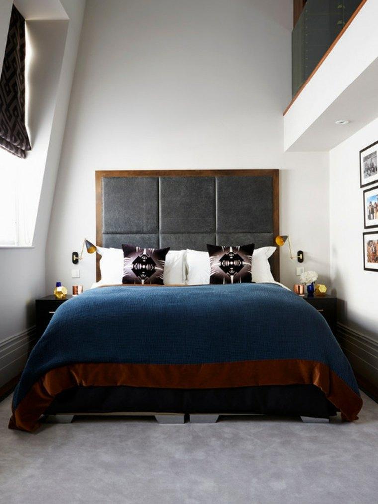 cama moderna tapizada