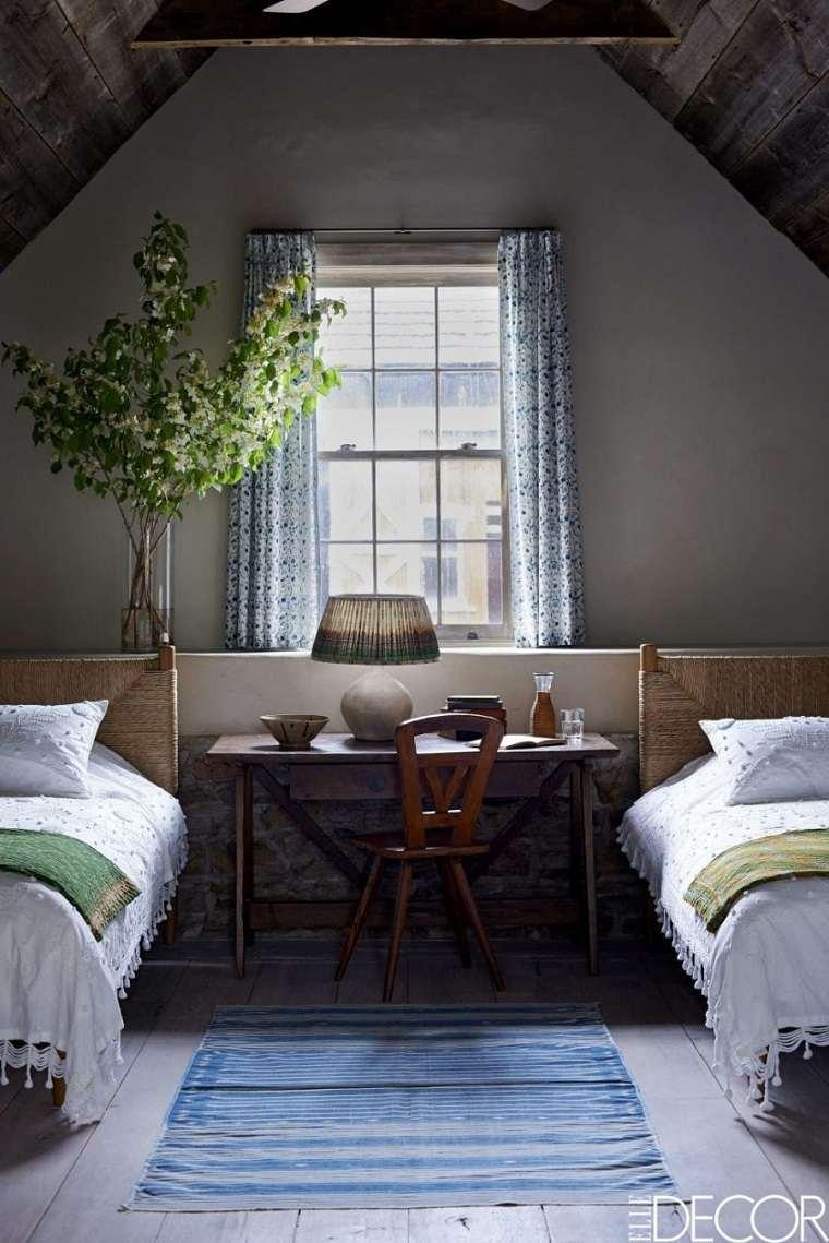 habitación doble rústica