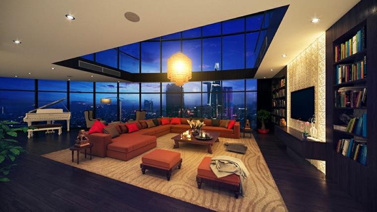 efecto dramatico luces interiores impresionante muebles