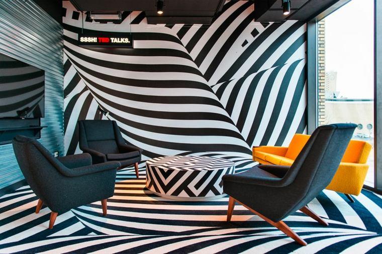 efecto paredes geometrico increibles sillones