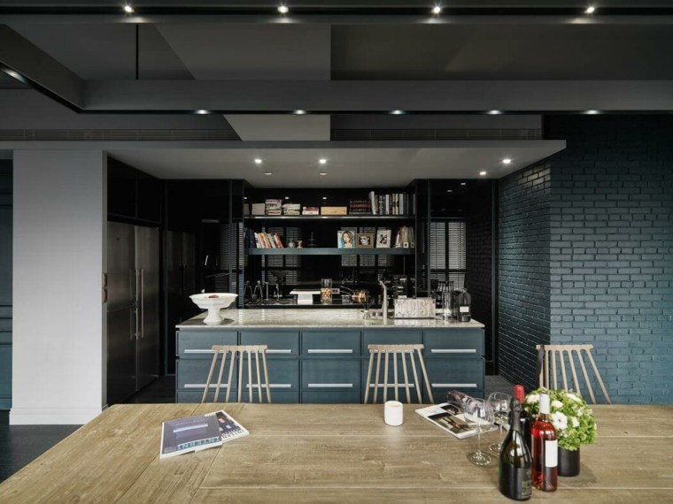 el apartamento diseno taipei base design center salon cocina isla ideas