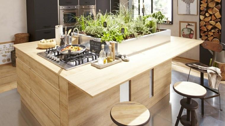 isla cocina madera