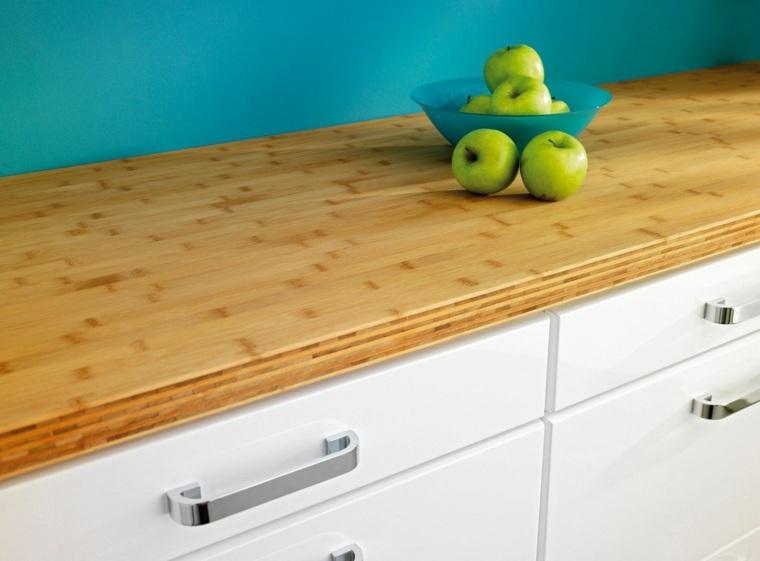 encimera madera natural