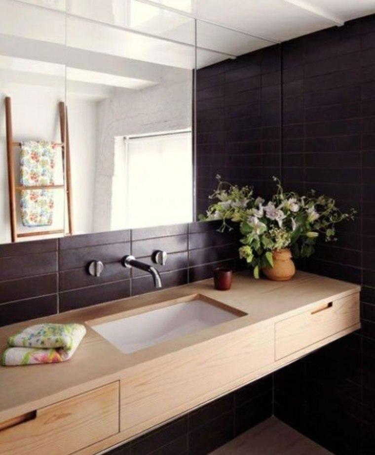 Encimeras para ba os flotantes y con armarios para decorar - Encimeras lavabos bano ...