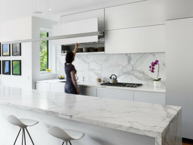 Encimeras de cocina mármol lujoso que deslumbrara -