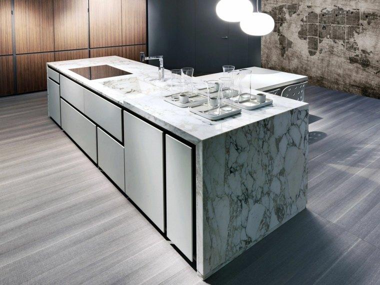 Encimeras de cocina m rmol lujoso que deslumbrara - Encimera de marmol ...