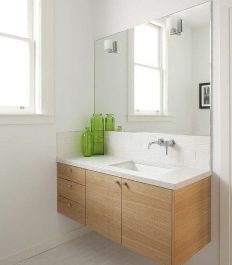 Encimeras para baños flotantes y con armarios para decorar -