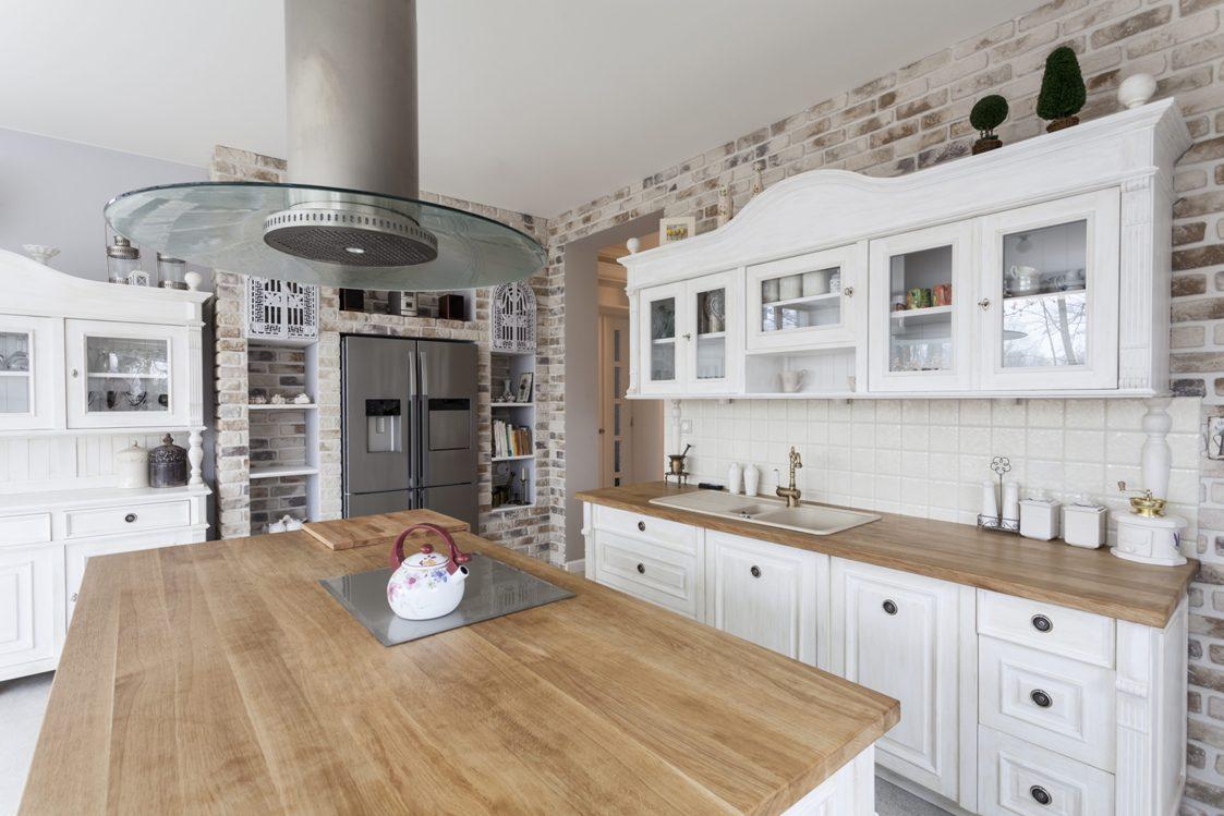 encimeras madera muebles clasicos cocina ideas