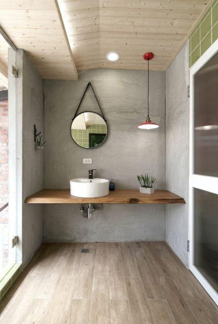 Encimeras para ba os flotantes y con armarios para decorar - Encimeras de madera para bano ...