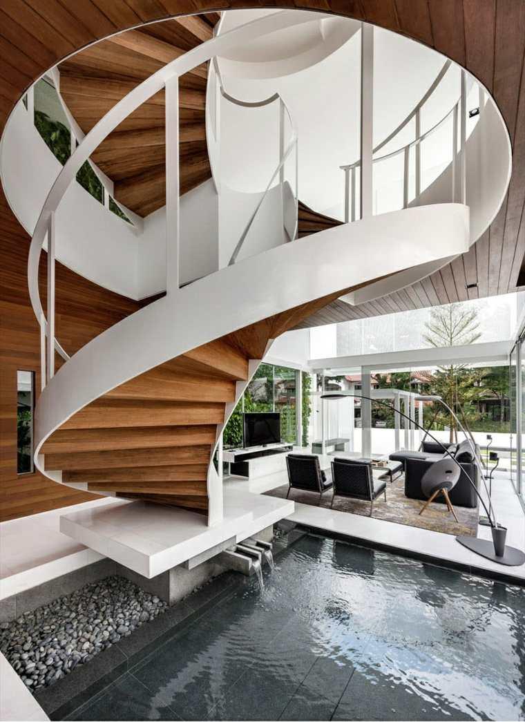 Escaleras de caracol con una imagen impactante para el for Decorar escalera caracol