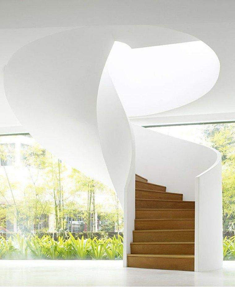 escaleras de caracol imagenes blanca madera conceptos