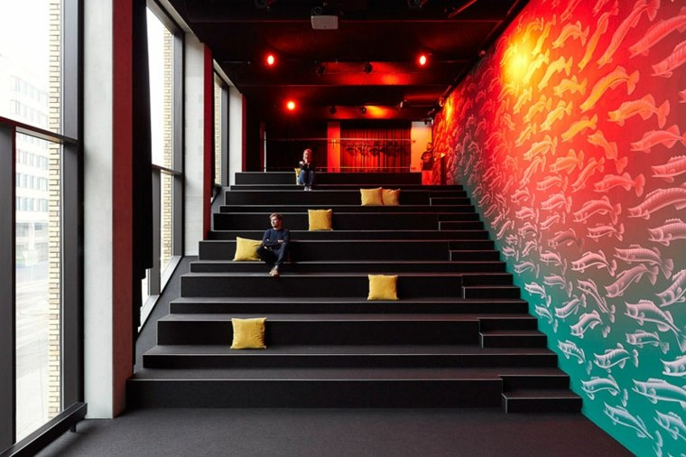 escaleras salones reuniones sala auditorium detalles