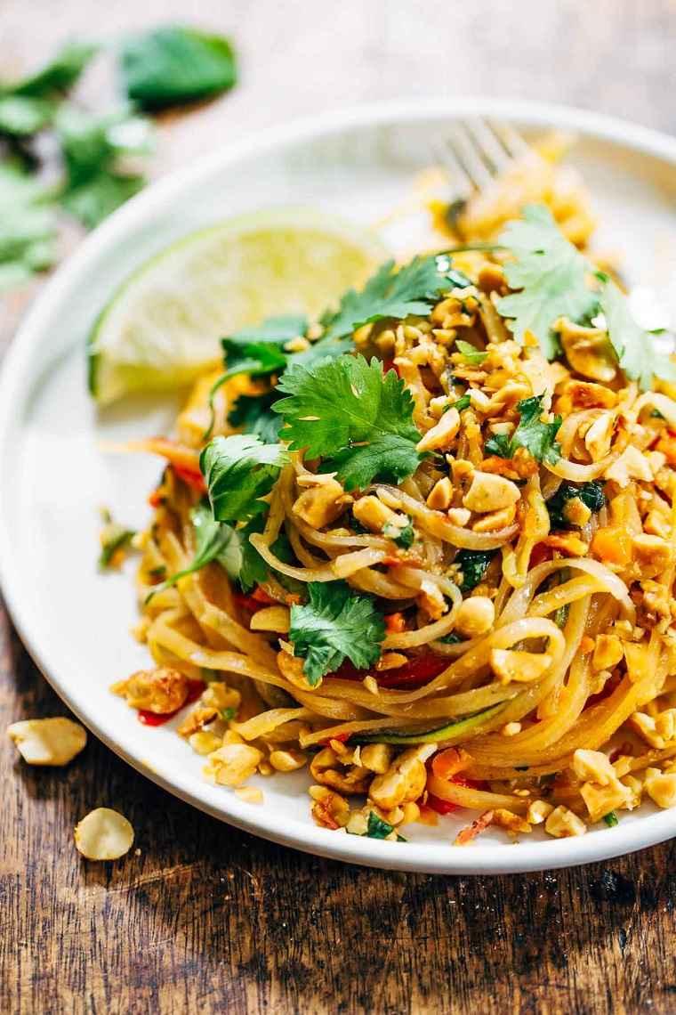 espaguetis arroz maiz comida sana ideas