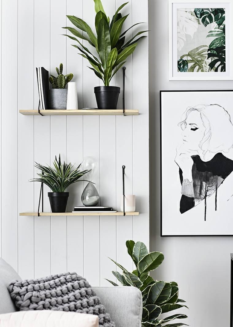 estantes planas macetas pequenas estilos listones