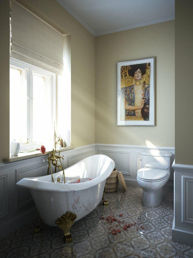 estores cortinas emtrada luz baño petalos flores