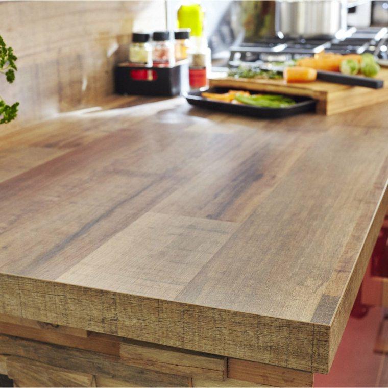 encimeras de madera natural