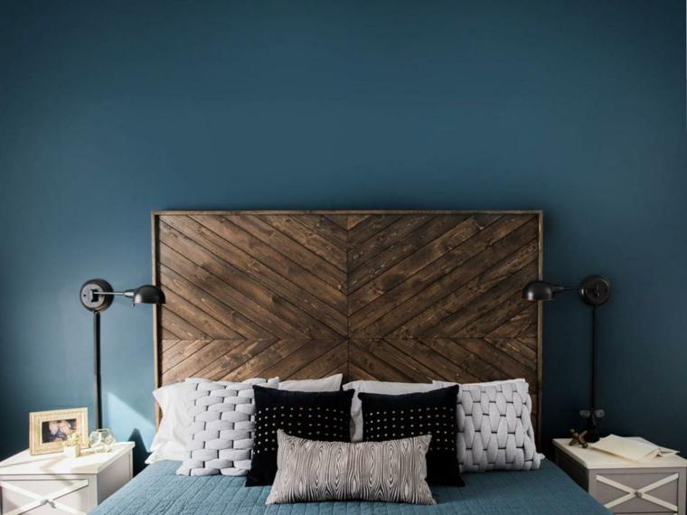 feng shui dormitorio cabeceros-madera-imagenes-solidos