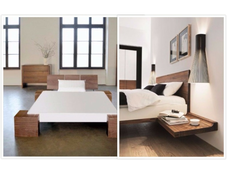 formas geometricas camas madera decroaciones modernas