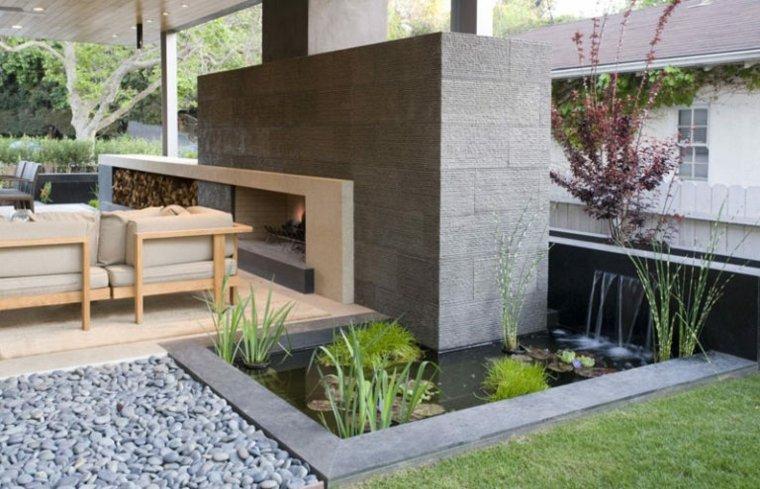 fuentes agua jardin decorar