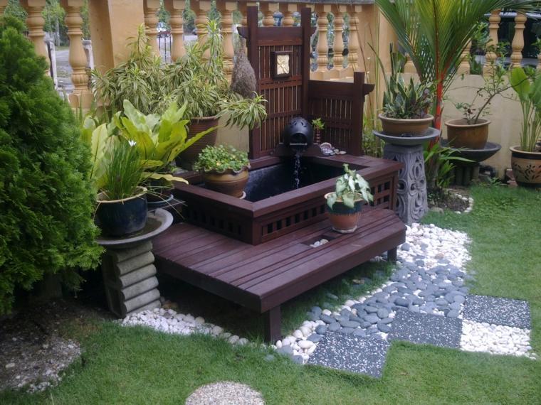 fuentes de agua de jardin decorar