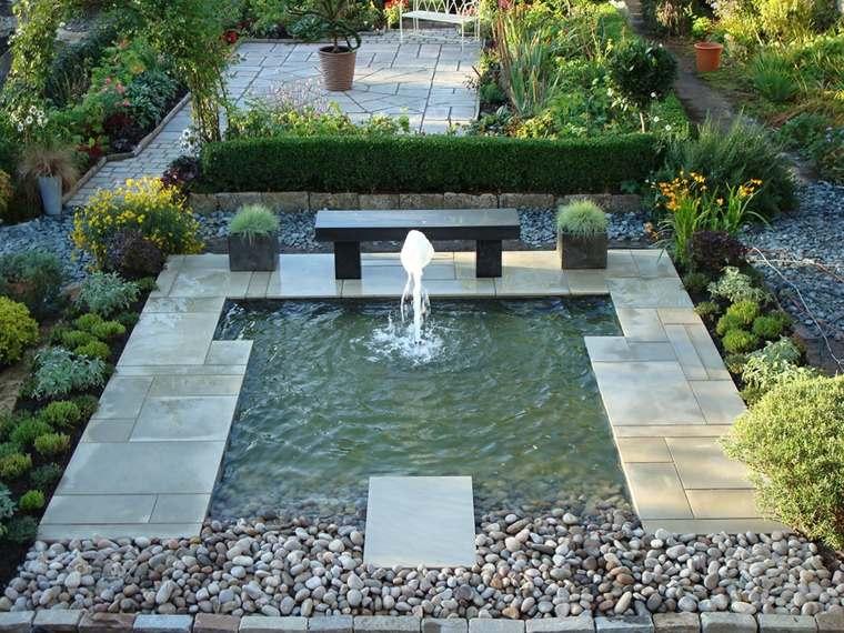 fuentes de agua para jardin decoracion casas