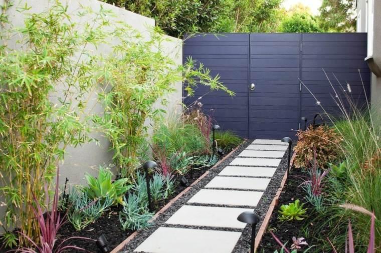 grises atractivos puertas entrada jardines senderos