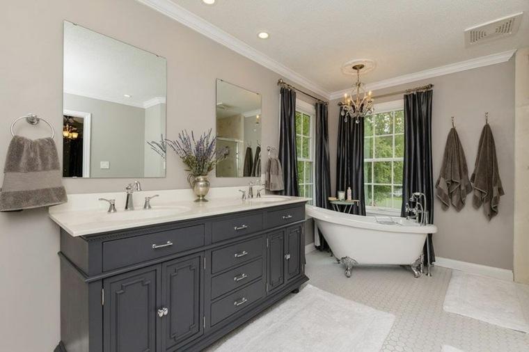 grises tonalidades ambientes negras toallas