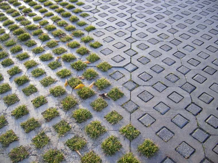 hormigon ceped combinacion efecto moderno jardin ideas