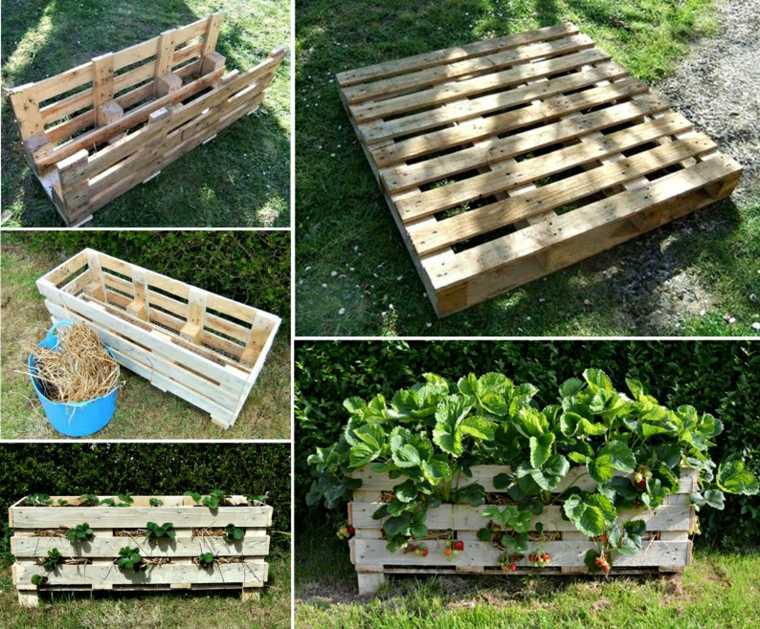 ideas con palets fresas-plantador-patios-funcional
