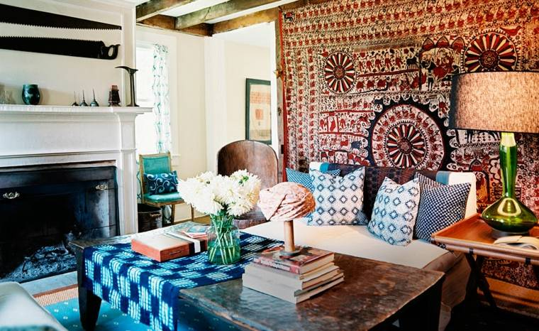 sala estar ideas de decoracion hippie