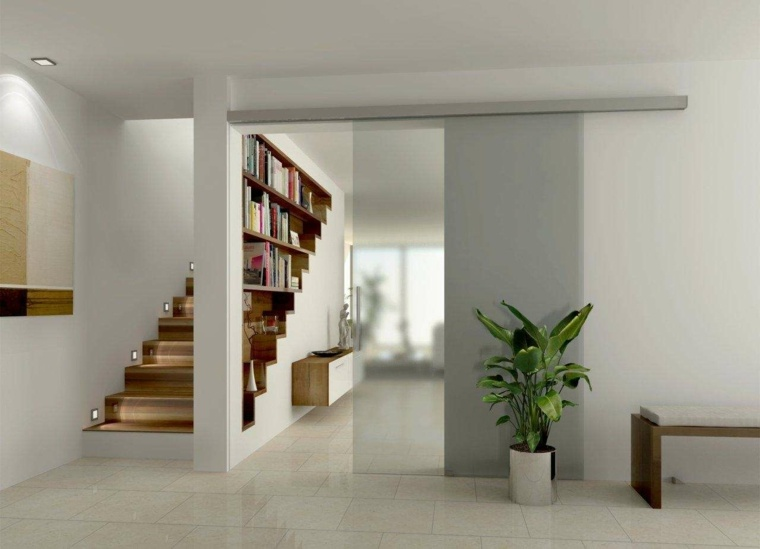 interior moderno puerta cristal