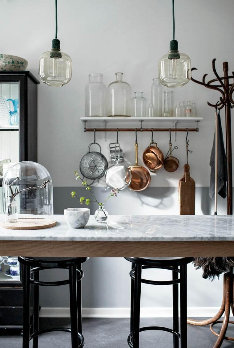 isla cocina original encimera marmol ideas