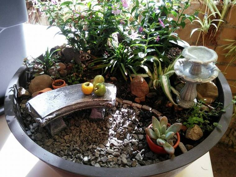jardín banco
