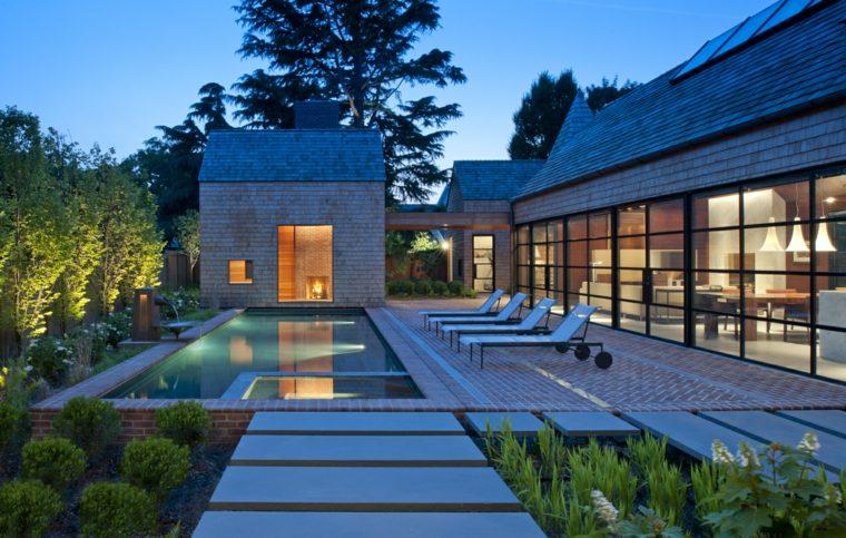 jardin casa piscina Robert M Gurney Architect ideas