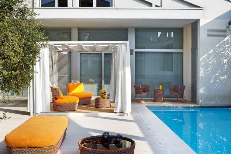 jardin piscina muebles estilo moderno Varaschin ideas