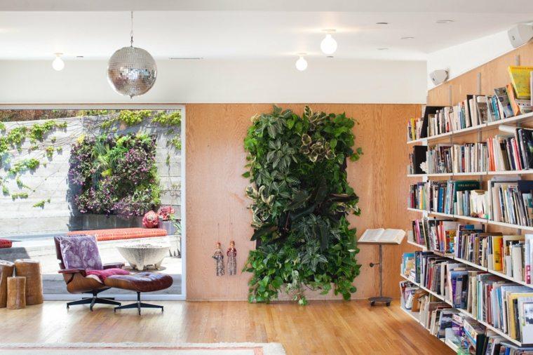 jardin vertica interiores sentidos paredes espacios