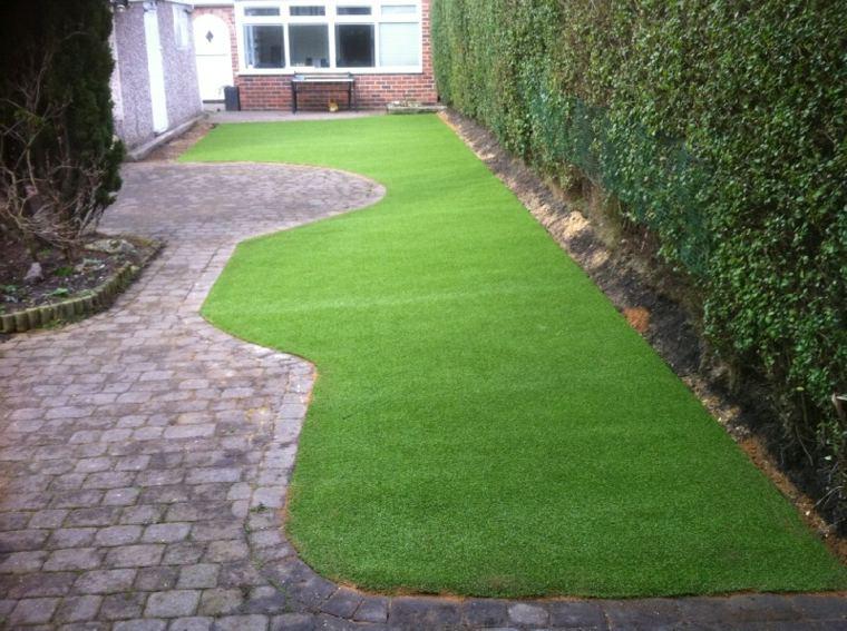Jardines con cesped artificial para la decoraci n de la casa for Decoracion jardin sin cesped