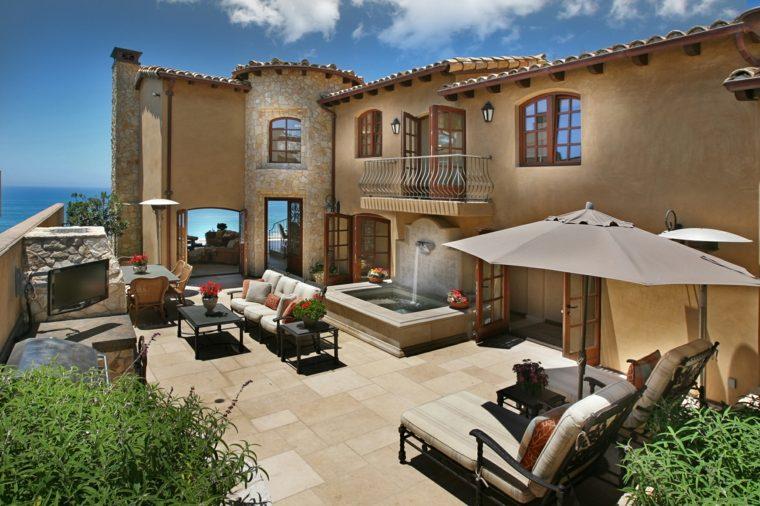 jardines mediterráneos-casas-opciones-muebles