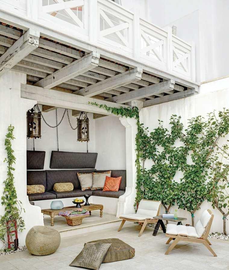 jardines mediterráneos-casas-verano-estilo-moderno