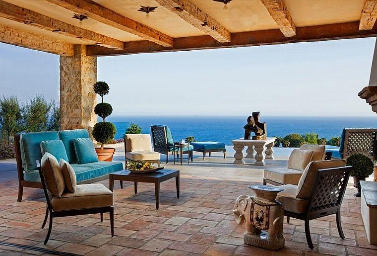 jardines mediterráneos-estilo-diseno-pergola
