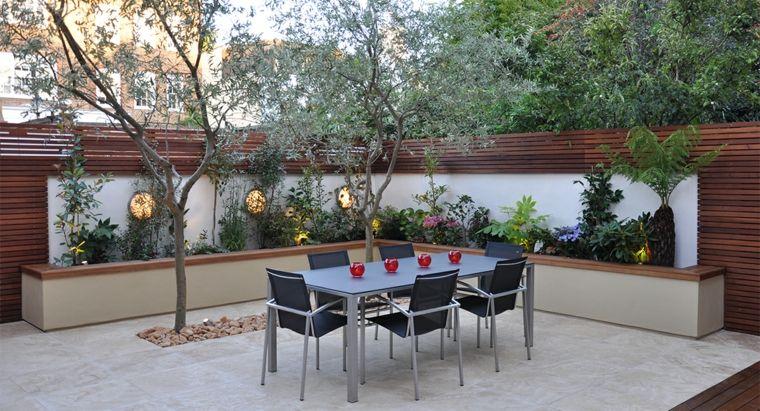 jardines mediterráneos-estilo-simple-comedor