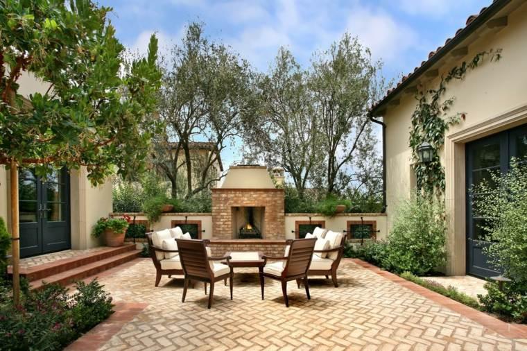 jardines mediterráneos-lugar-descanso-chimenea